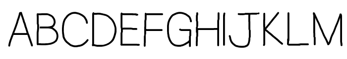 Jacquelyn's Hand Font UPPERCASE