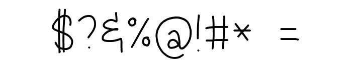 Jacquelyn'sMessyHand-Medium Font OTHER CHARS