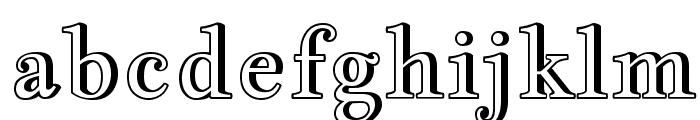 Jacques Francois Shadow Font LOWERCASE