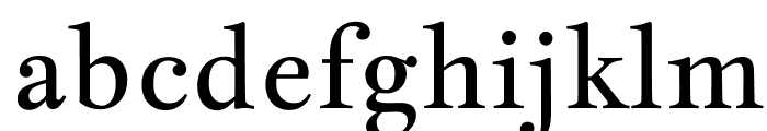 JacquesFrancois-Regular Font LOWERCASE