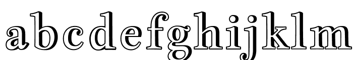 JacquesFrancoisShadow-Regular Font LOWERCASE