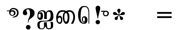 Jaffna Normal Font OTHER CHARS
