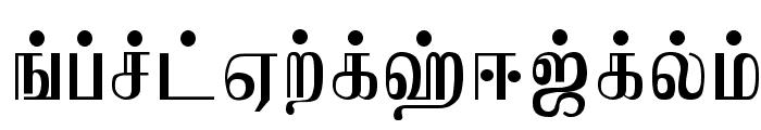 Jaffna Normal Font UPPERCASE