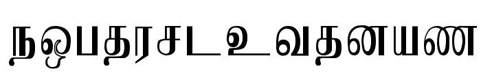 Jaffna Normal Font LOWERCASE