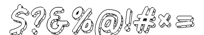 Jag Alskar Dig Isstorm Oblique Font OTHER CHARS