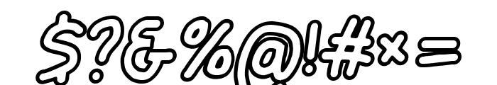 Jag Alskar Dig Konturlinje Oblique Font OTHER CHARS