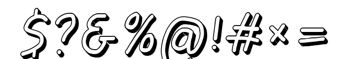 Jag Alskar Dig Skylt Oblique Font OTHER CHARS