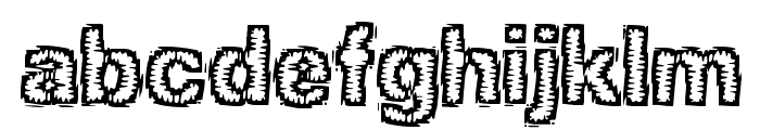 Jagged BRK Font LOWERCASE