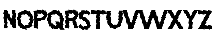 Jagged Font UPPERCASE
