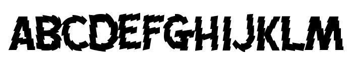 Jagged Font LOWERCASE