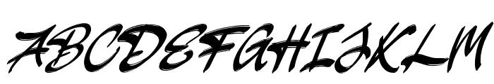 JakAs Italic Font UPPERCASE