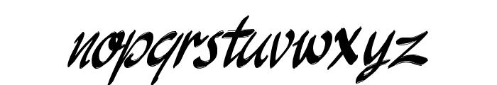 JakAs Italic Font LOWERCASE