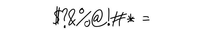 Jakob's Handwriting Font OTHER CHARS