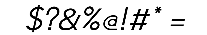 Jambetica-Italic Font OTHER CHARS