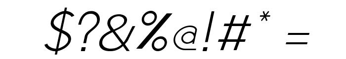 Jambetica-LightItalic Font OTHER CHARS