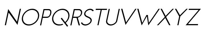 Jambetica-LightItalic Font UPPERCASE