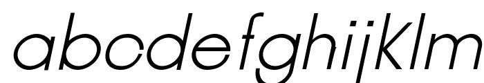 Jambetica-LightItalic Font LOWERCASE