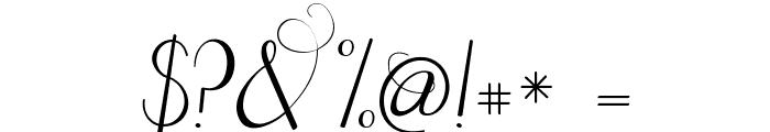 Janda Celebration Script Font OTHER CHARS