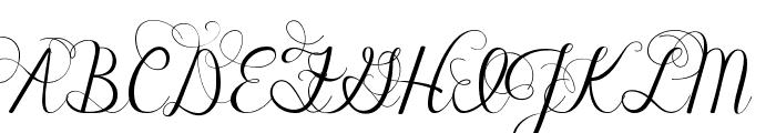 Janda Celebration Script Font UPPERCASE