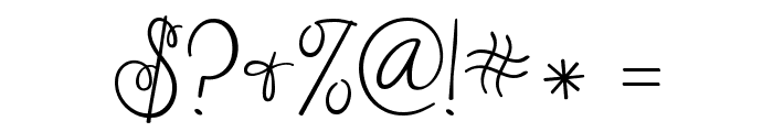 Janda Cheerful Script Font OTHER CHARS