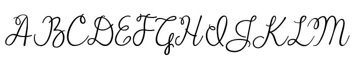 Janda Cheerful Script Font UPPERCASE