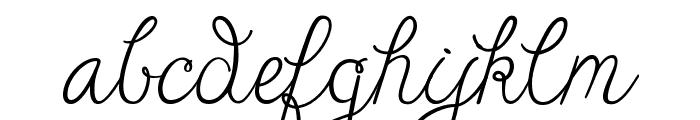 Janda Cheerful Script Font LOWERCASE