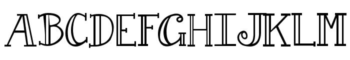 Janda Curlygirl Serif Font UPPERCASE