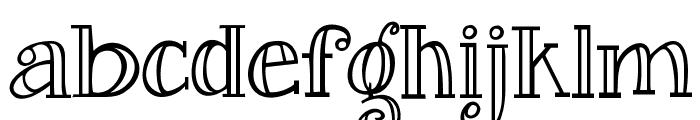 Janda Curlygirl Serif Font LOWERCASE