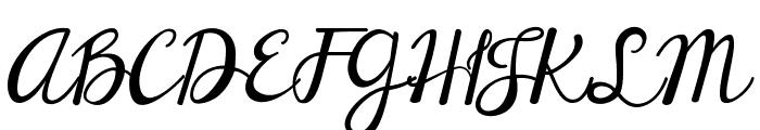 Janda Elegant Handwriting Font UPPERCASE