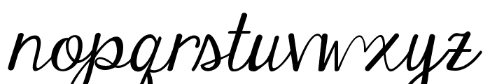 Janda Elegant Handwriting Font LOWERCASE