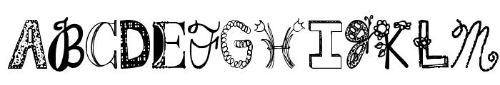 Janda Fabulous Font UPPERCASE