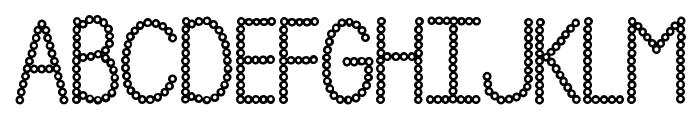 Janda Polkadot Punch Font UPPERCASE