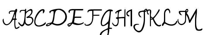 Janda Romantic Font UPPERCASE