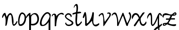 Janda Romantic Font LOWERCASE