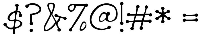 Janda Scrapgirl Dots Font OTHER CHARS