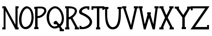 Janda Snickerdoodle Serif Bold Font UPPERCASE
