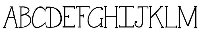 Janda Snickerdoodle Serif Font UPPERCASE