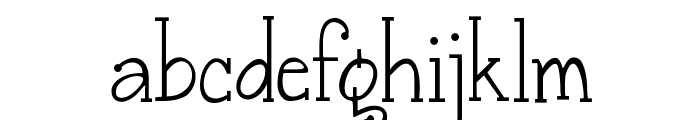 Janda Snickerdoodle Serif Font LOWERCASE