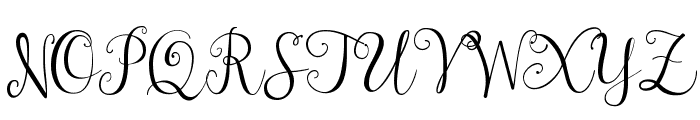 Janda Stylish Script Font UPPERCASE