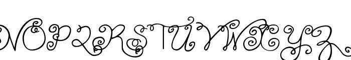Janda Swirlygirl Font UPPERCASE