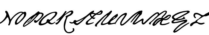 JaneAusten Font UPPERCASE