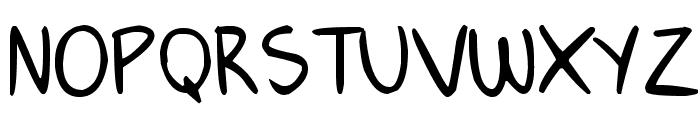 Janepix Handwriting Font UPPERCASE