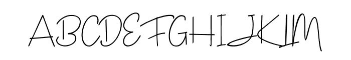 Janesville Script Font UPPERCASE