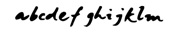 JaniceHandBold Font LOWERCASE