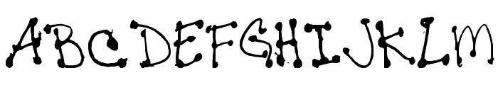 Janine-s-Writing Font UPPERCASE