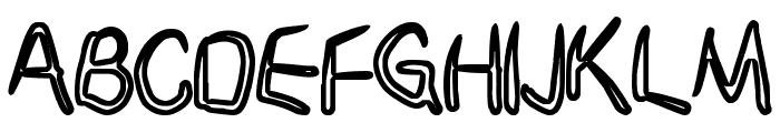 Janky Font UPPERCASE