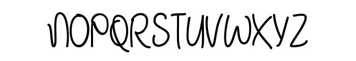 January Handwriting Font UPPERCASE