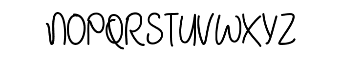 JanuaryHandwriting Font UPPERCASE