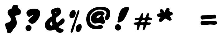 Japanese Brush Font OTHER CHARS