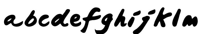 Japanese Brush Font LOWERCASE